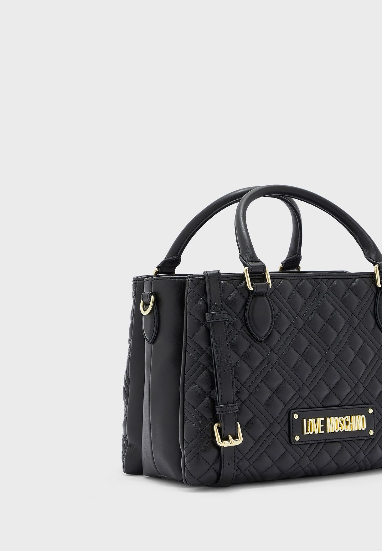 Quilted Round Handle Satchel