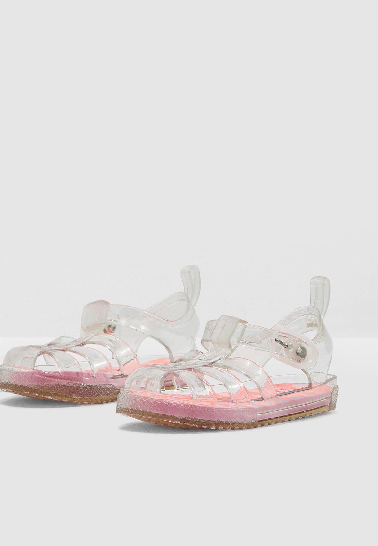 Shop Mango White Kids Jelly Sandal 43027030 For Kids In