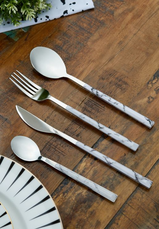 Set Of 4 Marble Cutlery