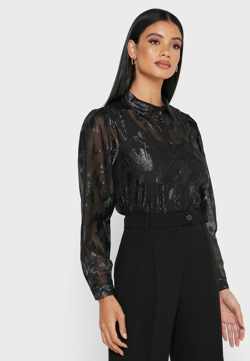 Shimmer Detail Shirt