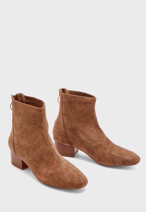 Block Heel Ankle Boot
