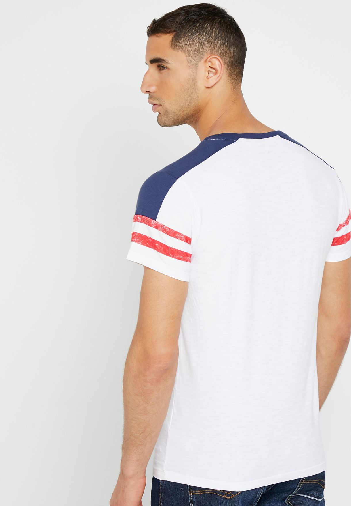 Stripes Varsity Crew Neck T-Shirt