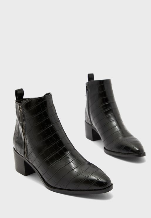 Nicie Mid Heel Ankle Boot