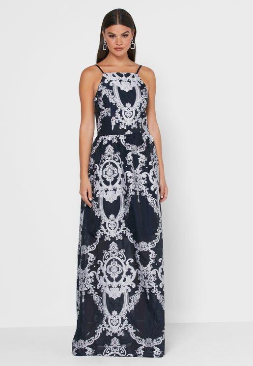 Belle Lace Detail Shift Dress