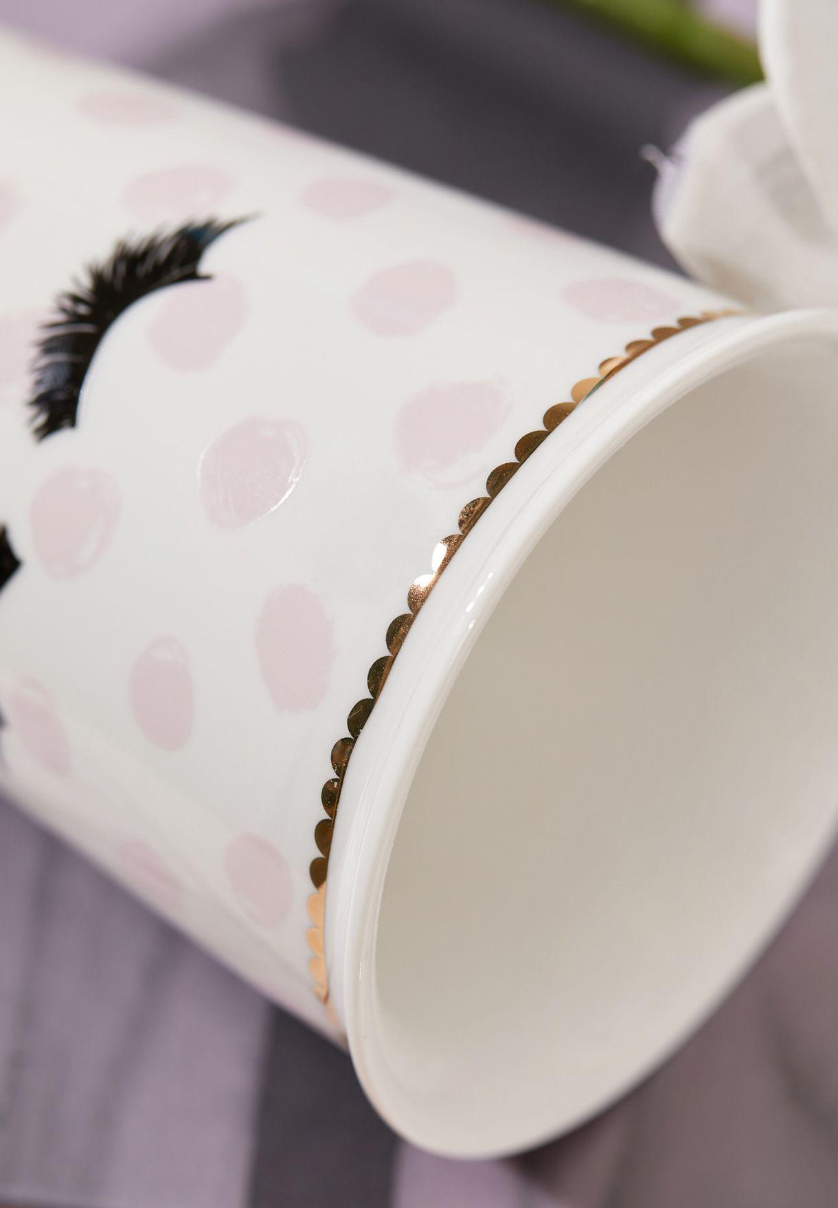 Eyelashes Travel Mug