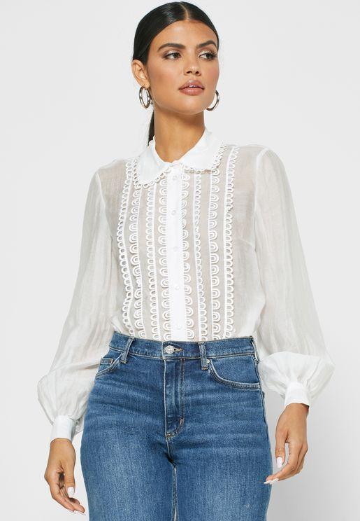 Lace Trim Shirt