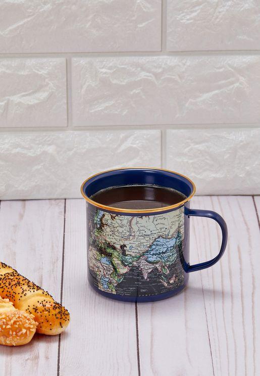 Maps Enamel Mug