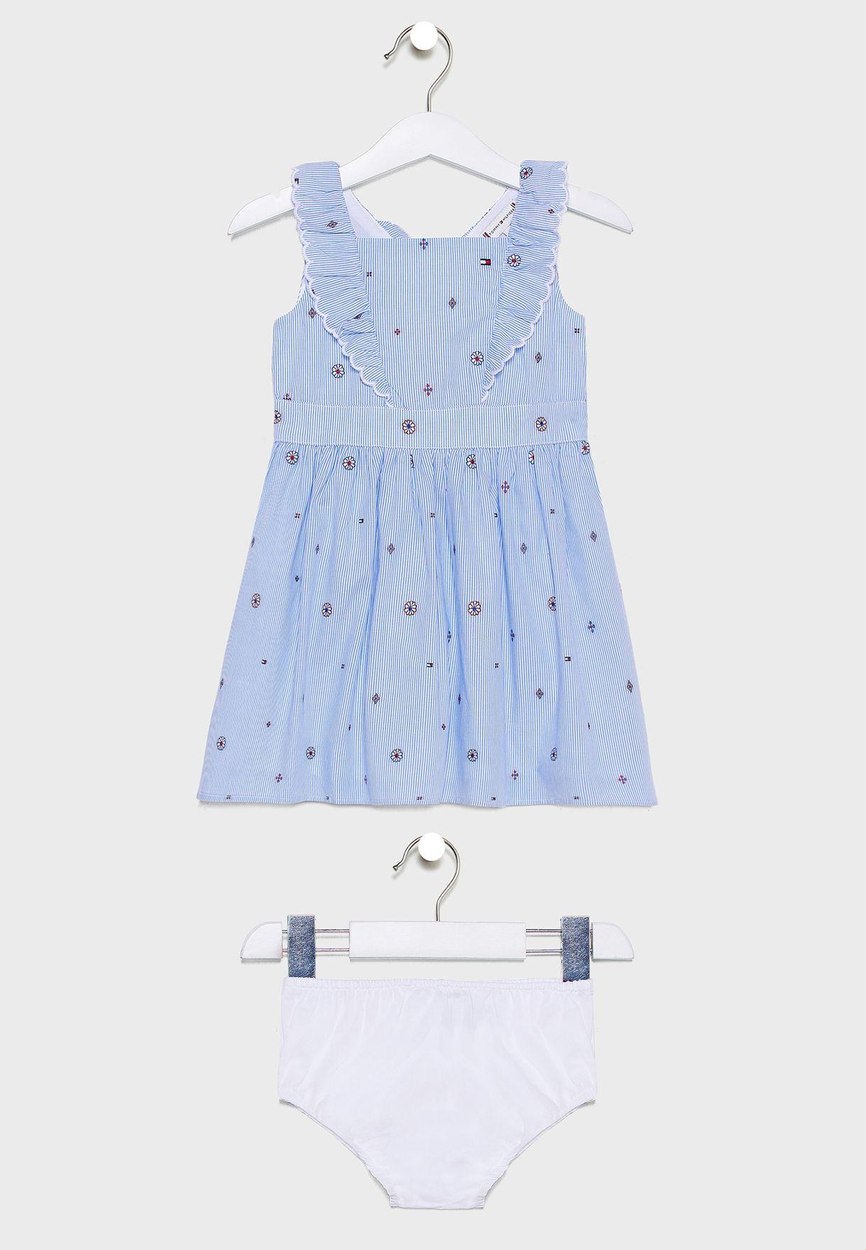 Kids Printed Dress + Knicker Set