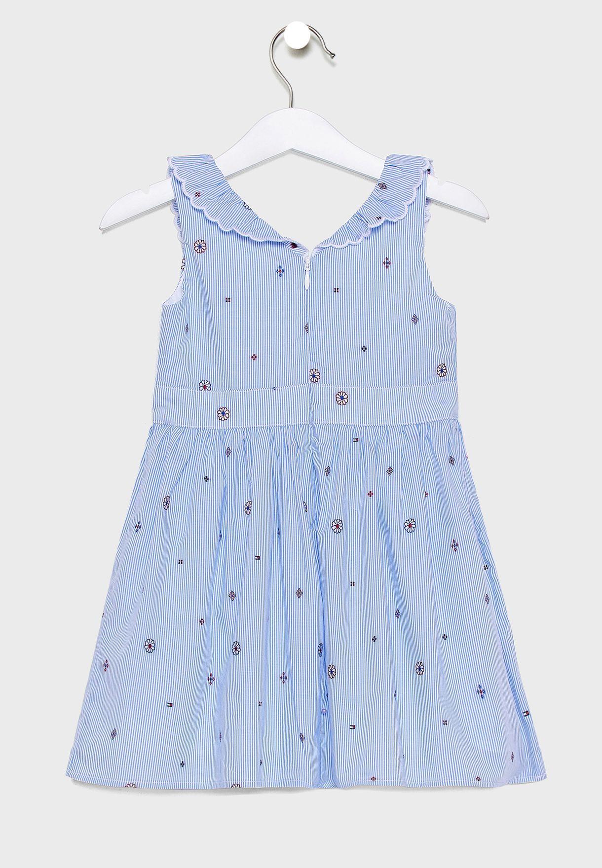 فستان اطفال مكشكش + سروال