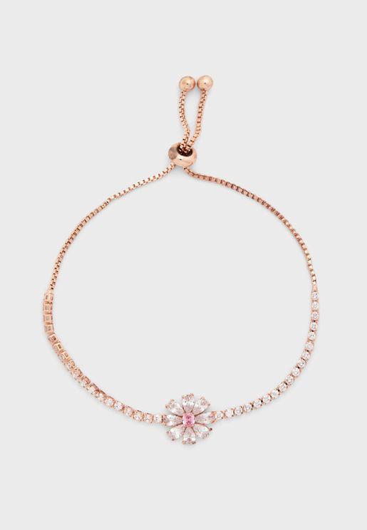 Flower Toggle Bracelet