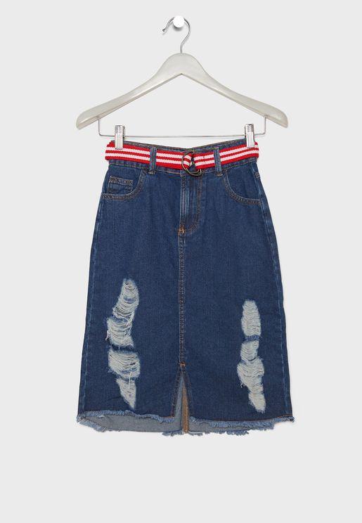 Teen Ripped Skirt