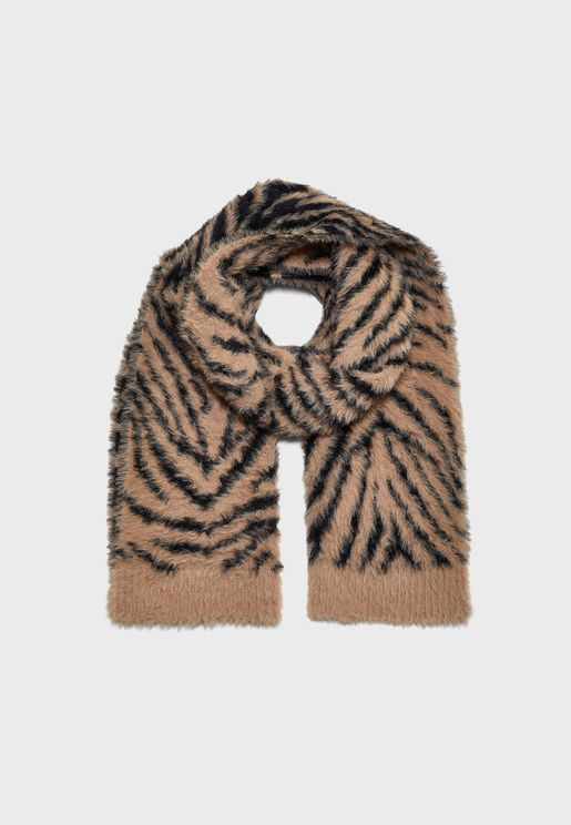 Fluffy Tiger Scarf