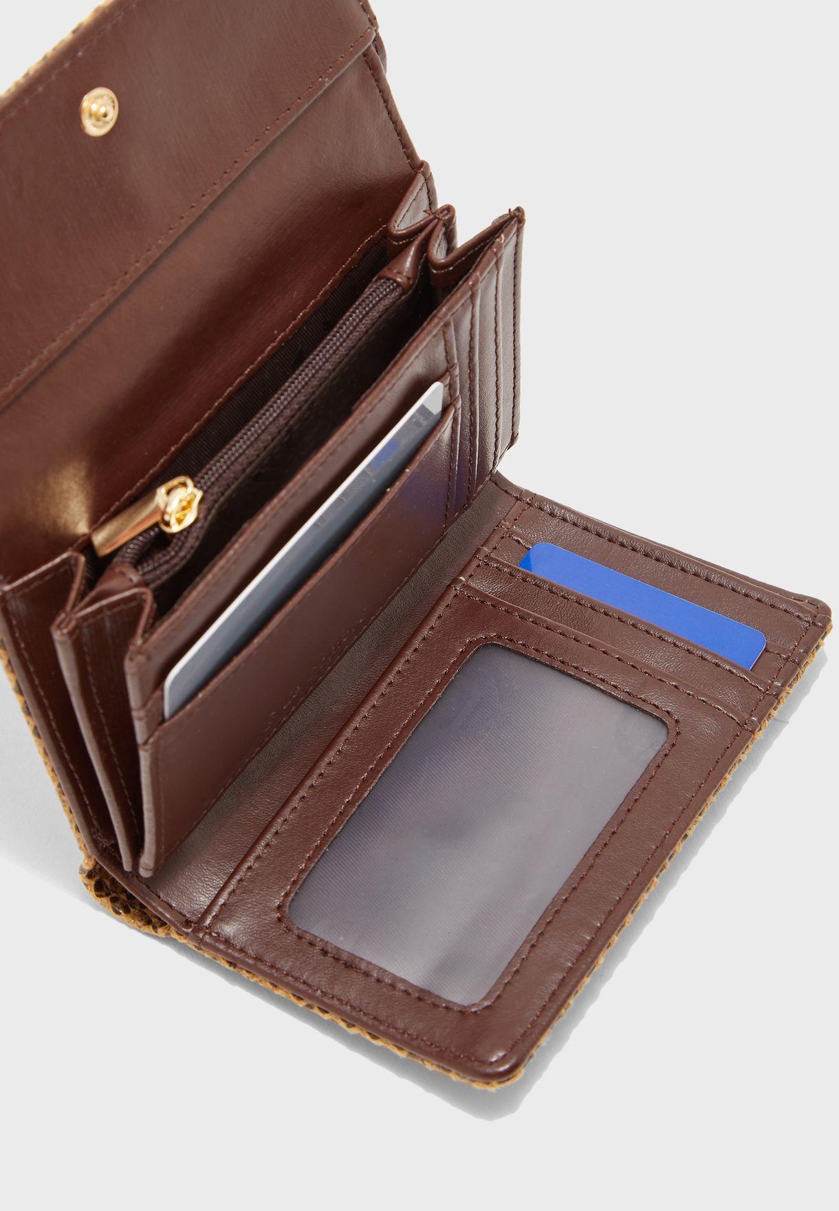 محفظة مطبعة بسحاب