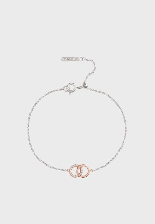 Bejewelled Interlink Chain Bracelet
