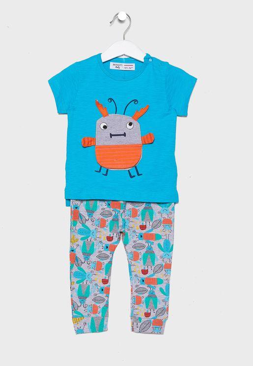Infant Bee T-Shirt + Leggings Set