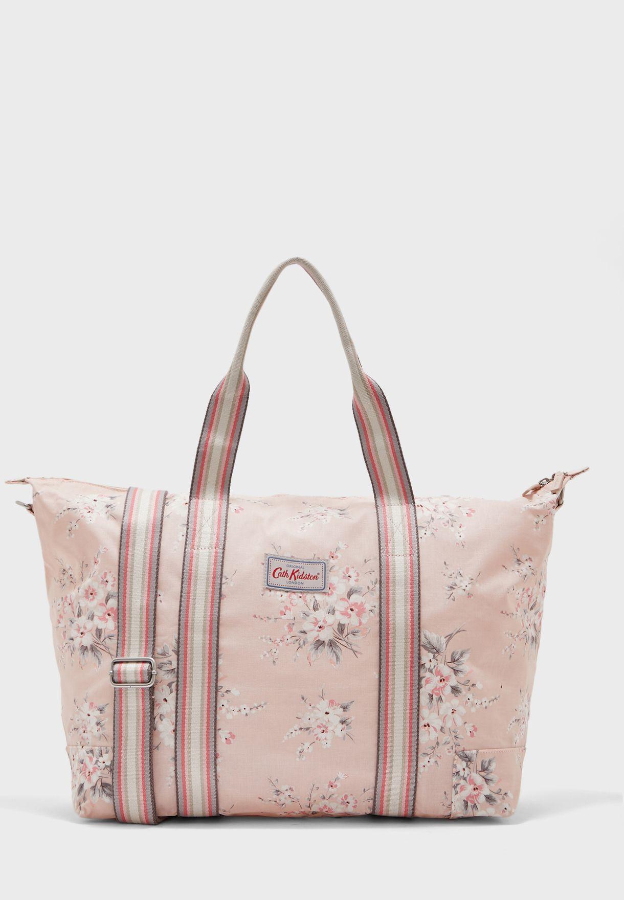 Floral Foldaway Overnight Bag