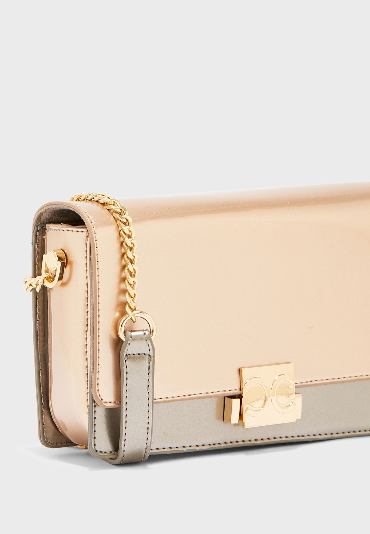 Magnetic Lock Detail Crossbody