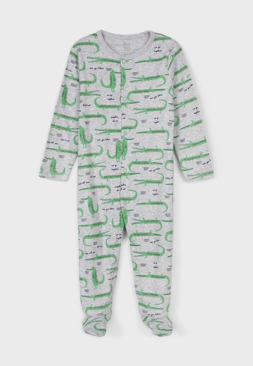 Infant Croc Print Onesie