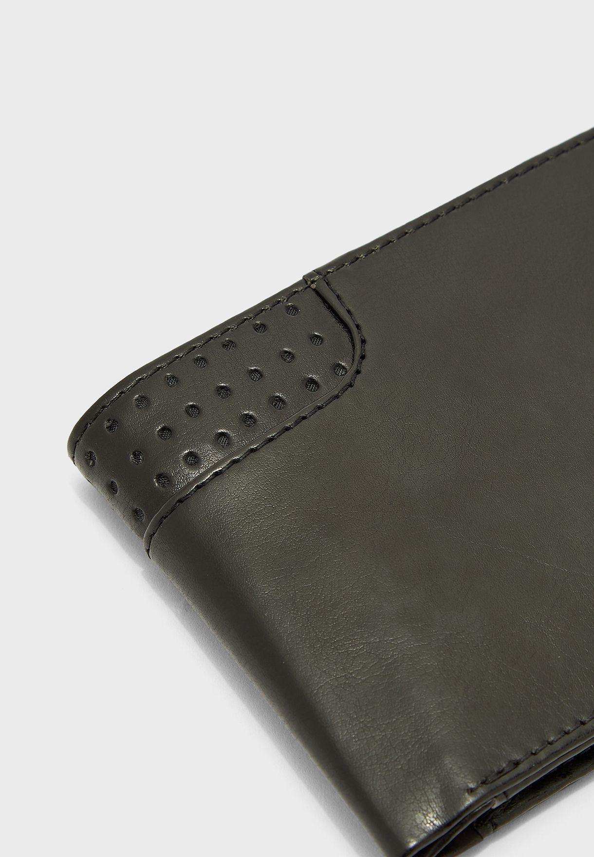 Leatherette Bi Fold Wallet