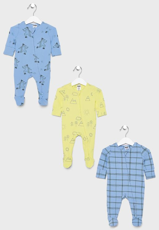 Infant 3 Pack Romper