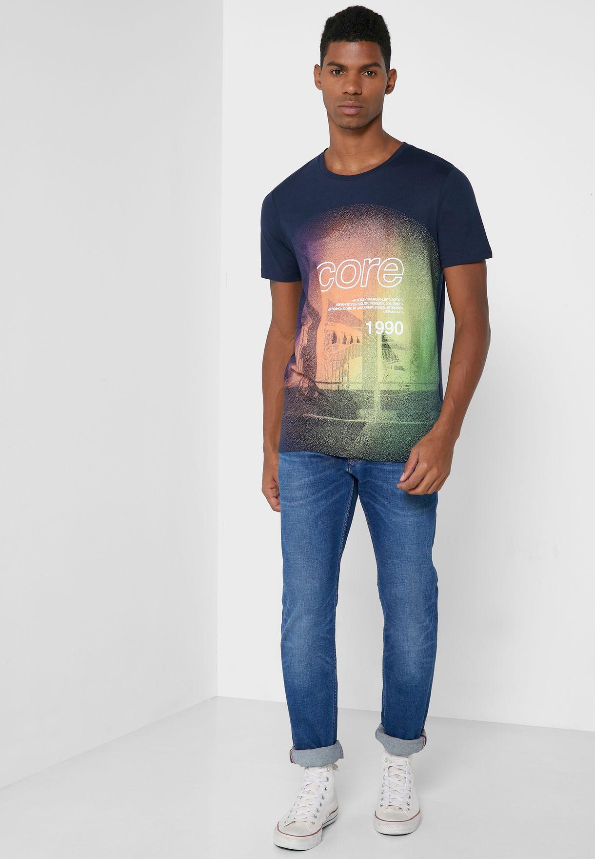 Graphic Slim Fit Crew Neck T-Shirt