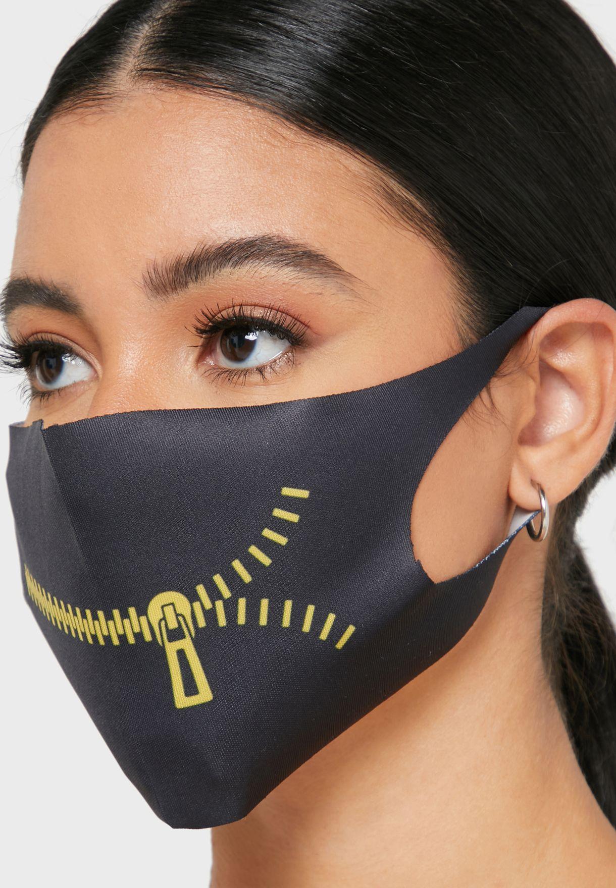 Fashion Mask  Zipper