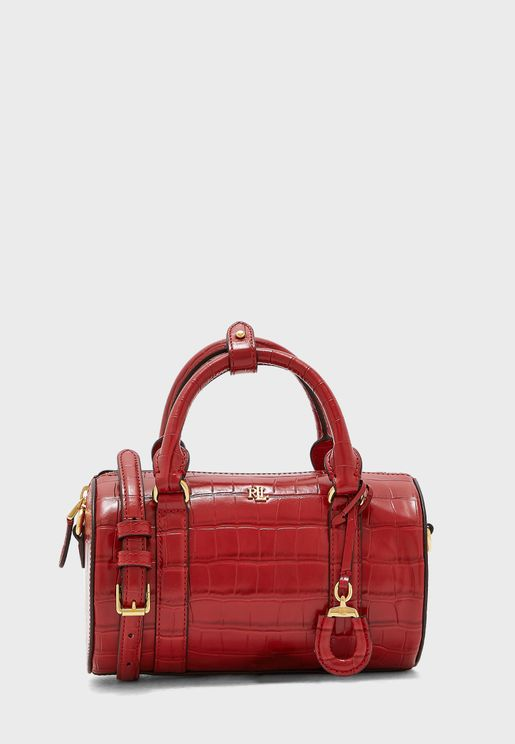 Top Handle Textured Satchel