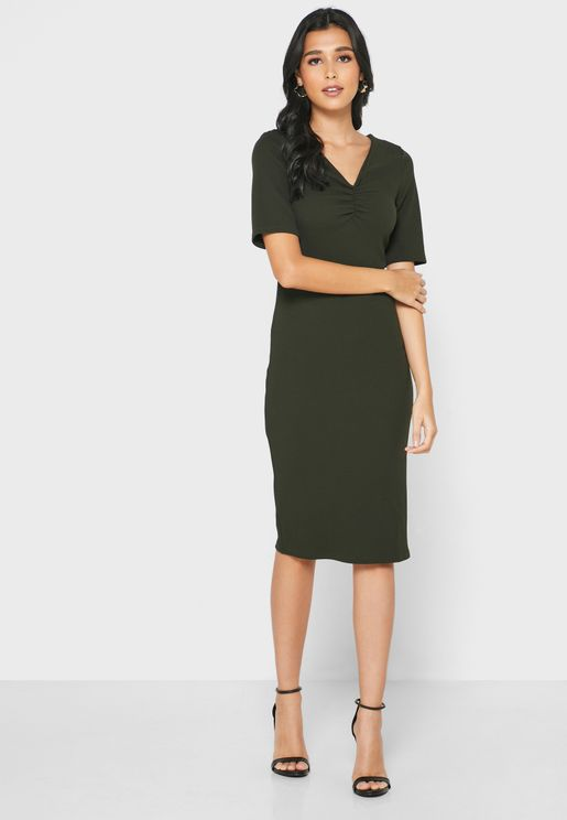 Ruched Detail Dress