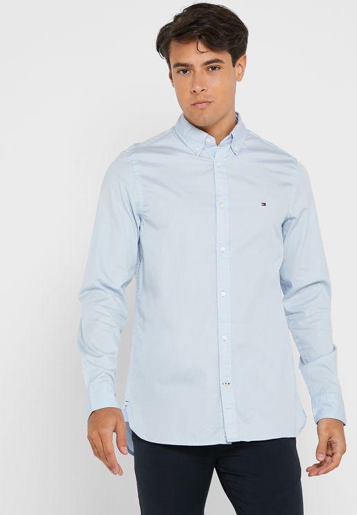 قميص مزين بشعار الماركة