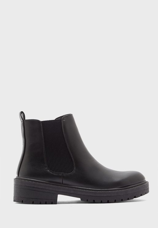 Formal Flat Ankle Boots