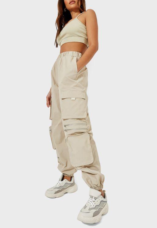 Utility Pocket Detail Pants