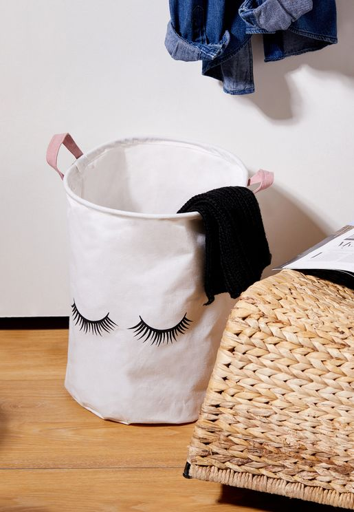 Pom Pom Eyelash Laundry Bag - 40cm