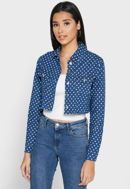 Printed Crop Jacket