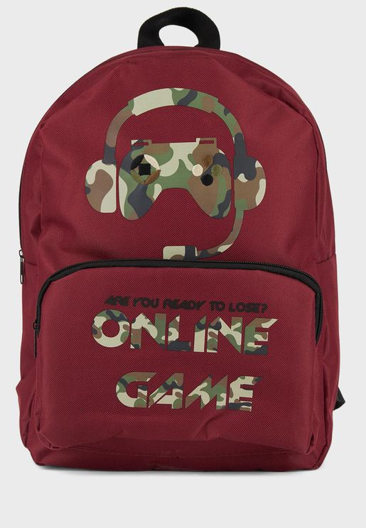 Kids Slogan Backpack