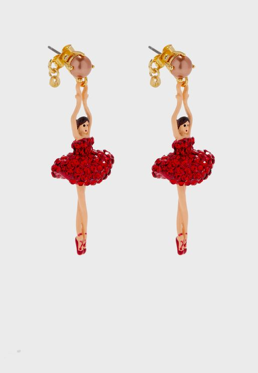 Toe-Dancing Ballerina Drop Earrings