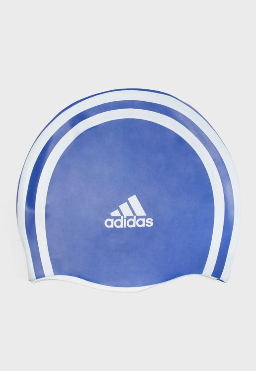 Silicon 3 Stripe Swim Cap