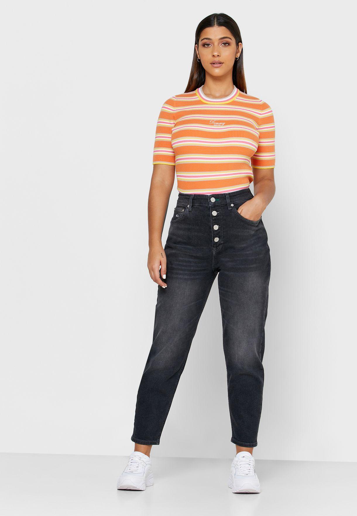 جينز مام بشعار الماركة