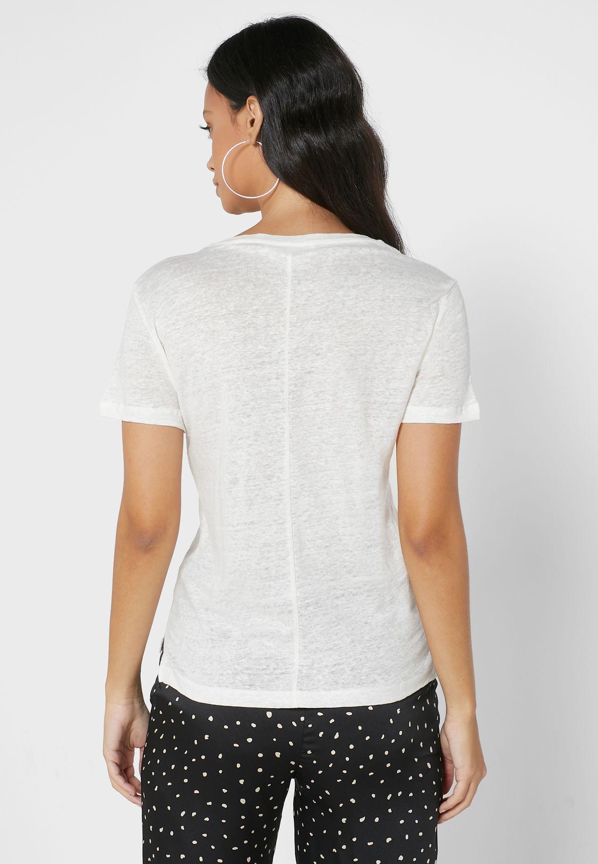 V-Neck Spacedye T-Shirt
