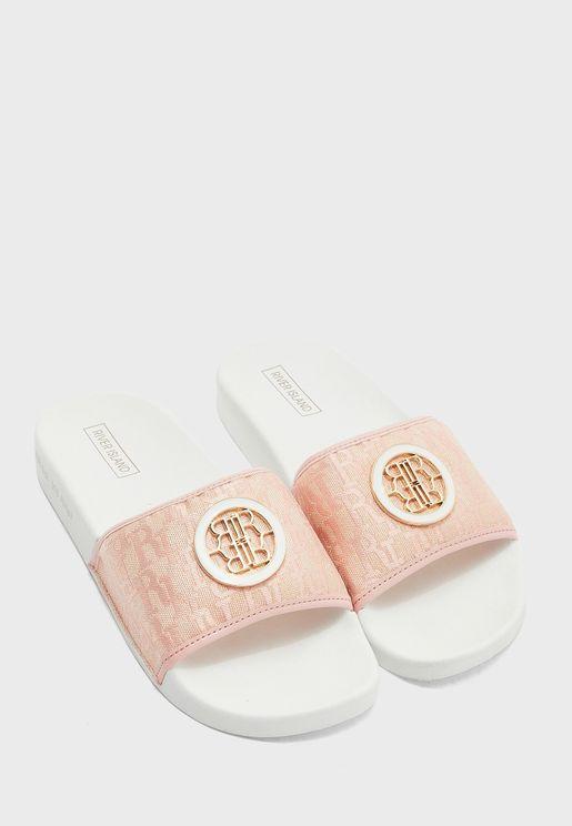 Monogram Flat Sandal