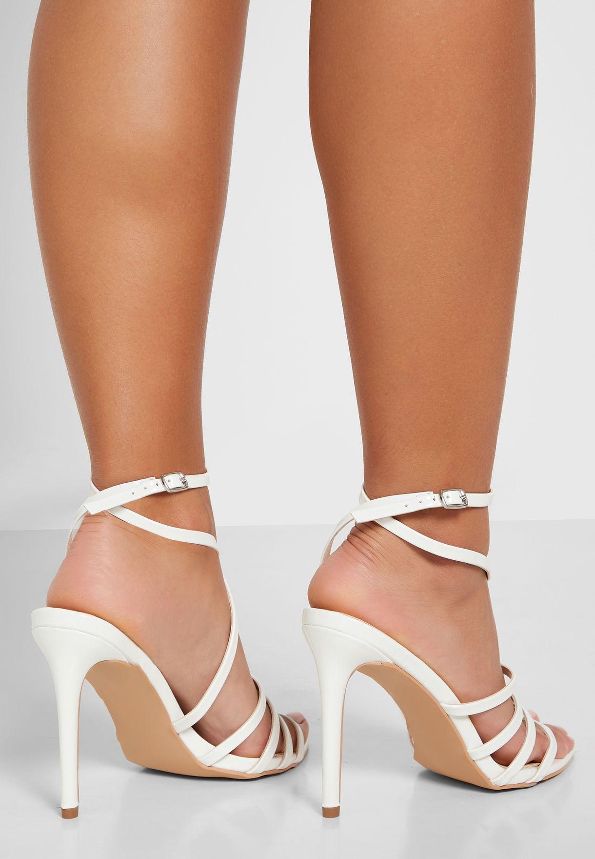 Multi-Strap Pointed Toe Stiletto Sandal