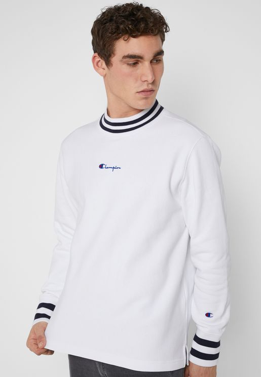 Reverse Weave High Neck Sweatshirt