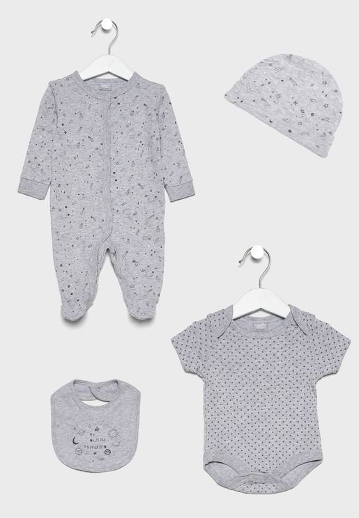 Infant 5 Piece Star & Moon Gift Set