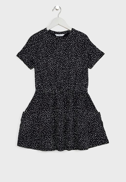 Kids Dot Print Dress