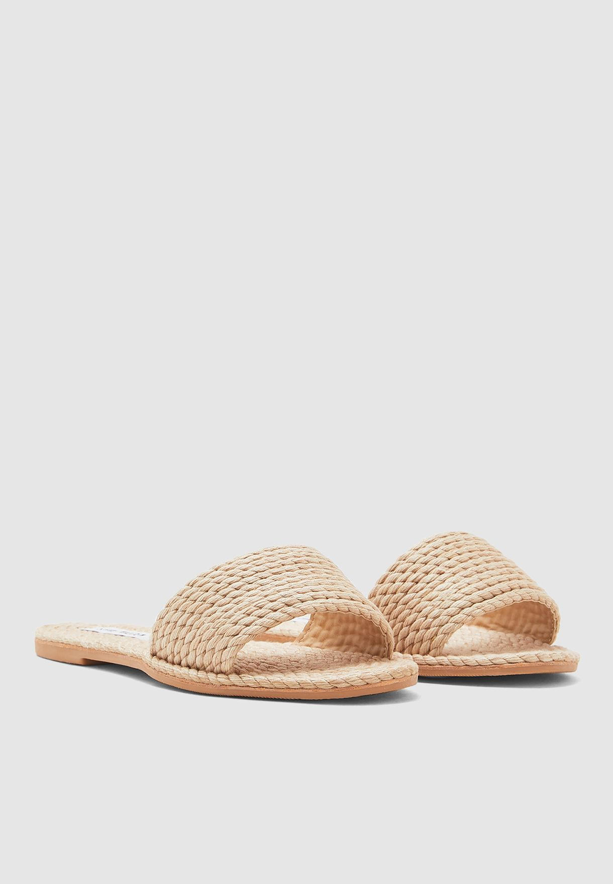 Roper Single Strap Flat Sandal - White
