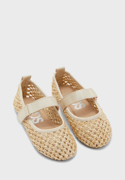 Kids Perforated Ballerinas