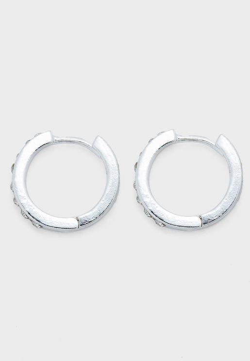 Diamante Huggie Hoop Earrings