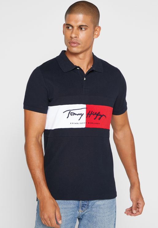 Autograph Flag Slim Fit Polo