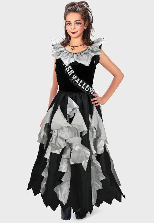 Youth Zombie Prom Queen Costume