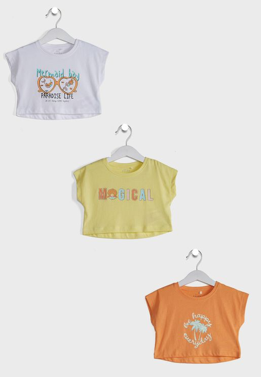 Kids 3 Pack Graphic T-Shirt