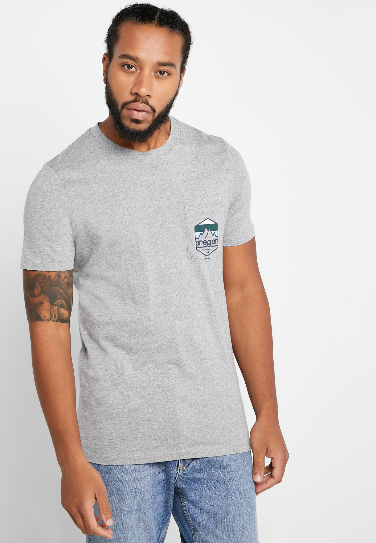 Denvers Pocket Detail Crew Neck T-Shirt